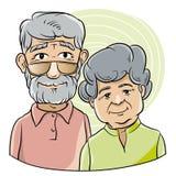 Καλοί παππούς και γιαγιά διανυσματική απεικόνιση