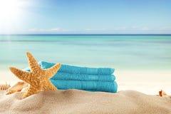 καλοκαίρι θαλασσινών κοχυλιών άμμου πλαισίων έννοιας ανασκόπησης Στοκ Εικόνες