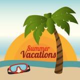 Καλοκαίρι και διακοπές διανυσματική απεικόνιση
