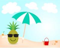 Καλοκαίρι στην παραλία απεικόνιση αποθεμάτων