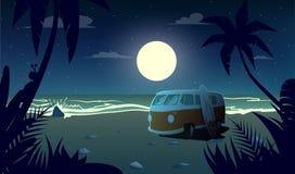 Καλοκαίρι στη νύχτα απεικόνιση αποθεμάτων