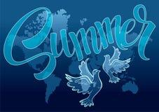 Καλοκαίρι στον πλανήτη Στοκ εικόνες με δικαίωμα ελεύθερης χρήσης