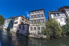 Καλοκαίρι Στρασβούργο στο φακό ψάρι-ματιών Στοκ εικόνες με δικαίωμα ελεύθερης χρήσης