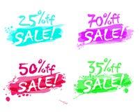 Καλοκαίρι χρωμάτων πώλησης τυπωμένων υλών διανυσματική απεικόνιση