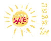 Καλοκαίρι χρωμάτων πώλησης τυπωμένων υλών απεικόνιση αποθεμάτων