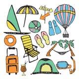 Καλοκαίρι doodles Στοκ Φωτογραφία