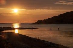 Καλοκαίρι Lilleby ηλιοβασιλέματος στοκ φωτογραφίες με δικαίωμα ελεύθερης χρήσης