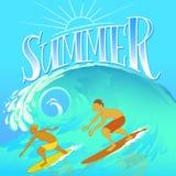 Καλοκαίρι Surfers Στοκ εικόνες με δικαίωμα ελεύθερης χρήσης