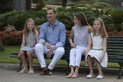 Καλοκαιρινές διακοπές 017 royals της Ισπανίας Στοκ Φωτογραφία