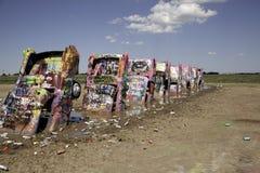 Καλυμμένα γκράφιτι αυτοκίνητα Στοκ φωτογραφία με δικαίωμα ελεύθερης χρήσης