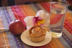 καλυμμένες φέτες ζελατίνας κέικ μήλων Στοκ εικόνες με δικαίωμα ελεύθερης χρήσης
