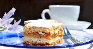 καλυμμένες φέτες ζελατίνας κέικ μήλων Στοκ εικόνα με δικαίωμα ελεύθερης χρήσης