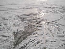 καλυμμένη λίμνη πάγου Στοκ Εικόνα