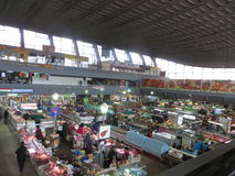 Καλυμμένη αγορά στο Κίεβο στην περιοχή Podol στοκ φωτογραφίες με δικαίωμα ελεύθερης χρήσης