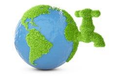 Καλυμμένη γη χλόη με τη στρόφιγγα απεικόνιση αποθεμάτων