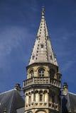 Καλυμμένη δια θόλου το Βέλγιο στέγη της Γάνδης ενός παλαιού κτηρίου Στοκ Φωτογραφία
