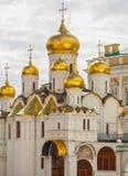 Καλυμμένη δια θόλου χρυσός Ορθόδοξη Εκκλησία Κρεμλίνο Μόσχα Στοκ φωτογραφία με δικαίωμα ελεύθερης χρήσης