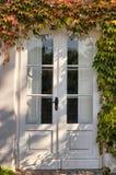 Καλυμμένη κισσός πόρτα Στοκ Φωτογραφίες