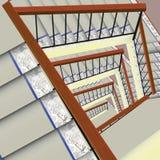 Καλυμμένη με τάπητα σκάλα ελεύθερη απεικόνιση δικαιώματος