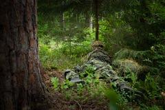 Καλυμμένος στρατιώτης Στοκ Εικόνες