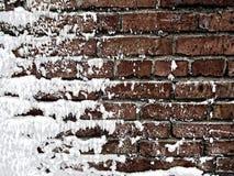 καλυμμένος τοίχος χιονι Στοκ φωτογραφία με δικαίωμα ελεύθερης χρήσης