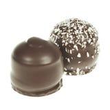 Καλυμμένο με σοκολάτα marshmallow μεταχειρίζεται Στοκ Φωτογραφίες