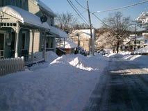 καλυμμένο οδικό χιόνι στοκ φωτογραφίες με δικαίωμα ελεύθερης χρήσης