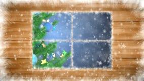 καλυμμένο παράθυρο χιον&iot διανυσματική απεικόνιση