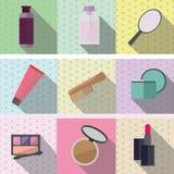 Καλλυντικά και προϊόντα για τις γυναίκες Στοκ Εικόνα
