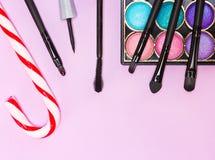 Καλλυντικά Χριστουγέννων makeup Στοκ εικόνες με δικαίωμα ελεύθερης χρήσης