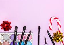 Καλλυντικά Χριστουγέννων makeup Στοκ εικόνα με δικαίωμα ελεύθερης χρήσης