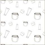 Καλλυντικά Doodle Στοκ φωτογραφία με δικαίωμα ελεύθερης χρήσης
