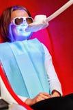 Καλλυντική λεύκανση δοντιών Cosmetology υλικού Στοκ Φωτογραφίες
