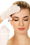 Καλλυντική του προσώπου έγχυση botox στοκ φωτογραφία με δικαίωμα ελεύθερης χρήσης