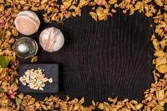 Καλλυντικό λουτρών SPA Aromatherapy με το φυσικές σαπούνι και τη βόμβα Χαλάρωση υγιεινής για το σώμα Στοκ Φωτογραφία