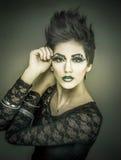 Καλλυντικό πρότυπο μόδας makeup Στοκ εικόνες με δικαίωμα ελεύθερης χρήσης
