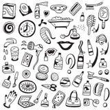 Καλλυντικό doodles Στοκ εικόνα με δικαίωμα ελεύθερης χρήσης