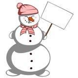 κα Χιονάνθρωπος Στοκ Φωτογραφίες