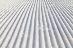 Καλλωπισμένη κλίση σκι Στοκ Φωτογραφία