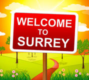 Καλωσορίζω στα μέσα Ηνωμένο Βασίλειο του Surrey και το τοπίο Στοκ Φωτογραφίες