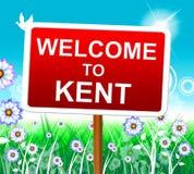 Καλωσορίζω στο Κεντ αντιπροσωπεύει το Ηνωμένο Βασίλειο και τη φύση Στοκ Φωτογραφίες