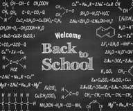 Καλωσορίστε πίσω στο σχολείο με τον τύπο στον πίνακα απεικόνιση αποθεμάτων