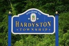 Καλωσορίστε σε Hardyston, NJ στοκ εικόνες
