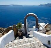 Καλωσορίστε σε Santorini Στοκ εικόνα με δικαίωμα ελεύθερης χρήσης