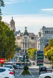 Καλωσορίστε στη μητρόπολη στην πόλη της Μαδρίτης στοκ εικόνες