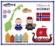 Καλωσορίστε στη Νορβηγία, Σκανδιναβικό CET συμβόλων απεικόνιση αποθεμάτων