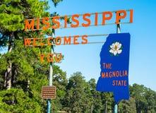 Καλωσορίστε στο κράτος Magnolia, Μισισιπής Στοκ Εικόνες