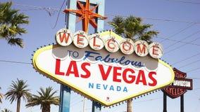 Καλωσορίστε στο μυθικό Λας Βέγκας - πόλη του Λας Βέγκας Nevada/USA απόθεμα βίντεο