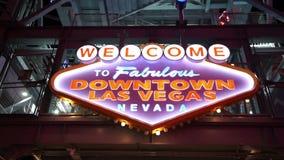 Καλωσορίστε στο μυθικό στο κέντρο της πόλης Λας Βέγκας - πόλη του Λας Βέγκας Nevada/USA φιλμ μικρού μήκους
