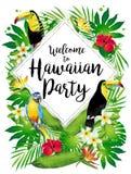Καλωσορίστε στο της Χαβάης κόμμα! Διανυσματική απεικόνιση Στοκ εικόνες με δικαίωμα ελεύθερης χρήσης
